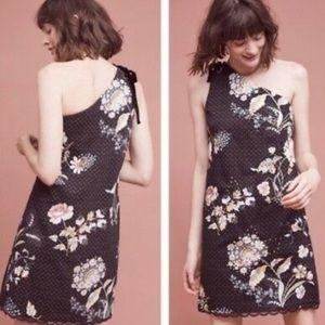 Maeve Ashbury one shoulder floral shift dress